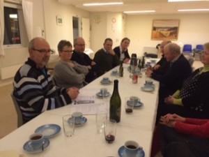 Fællesspisning og efterfølgende generalforsamling i Landsbyhuset.